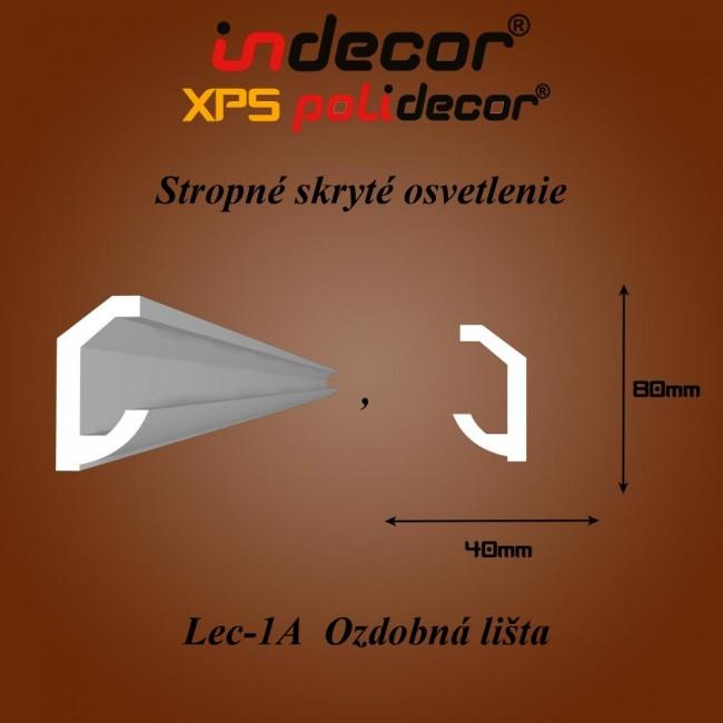 Lec-01A  Stropné skryté osvetlenie ozdobné lišty