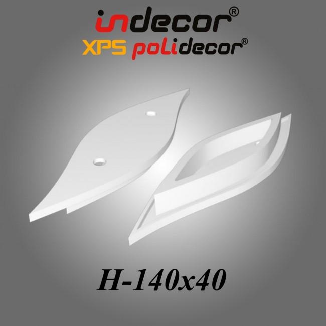 H-140x40 XPS Vlnový stropný ostrov